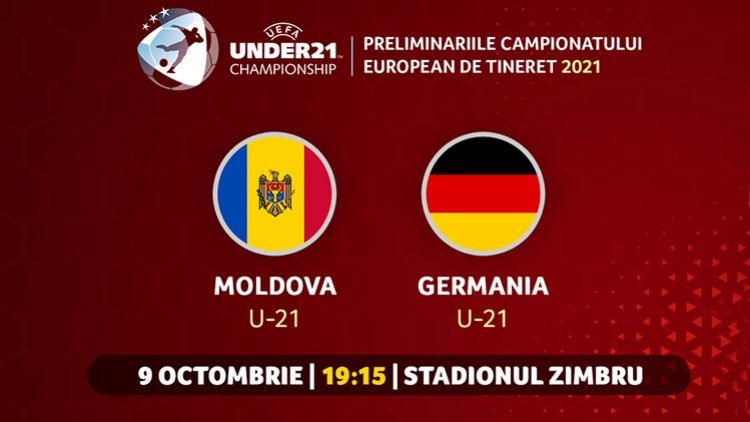 LIVE. Moldova U21 - Germania U21